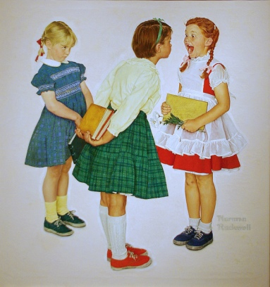 Norman Rockwell - Girl Missing Tooth
